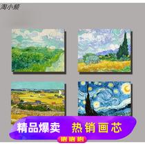 定制欧式手绘风景油画竖版过道黄金大道满地招财风水玄关装饰画