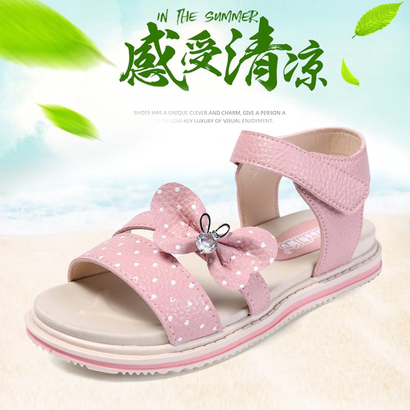 女童凉鞋公主鞋2018夏季新款韩版儿童凉鞋女孩沙滩鞋中大童鞋子