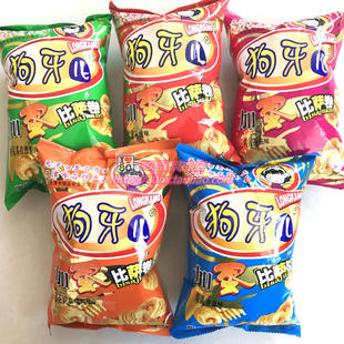 After the 8090 nostalgia Tianjin specialty snack sack i Dog children pizza roll puffed snack 120g5 flavors