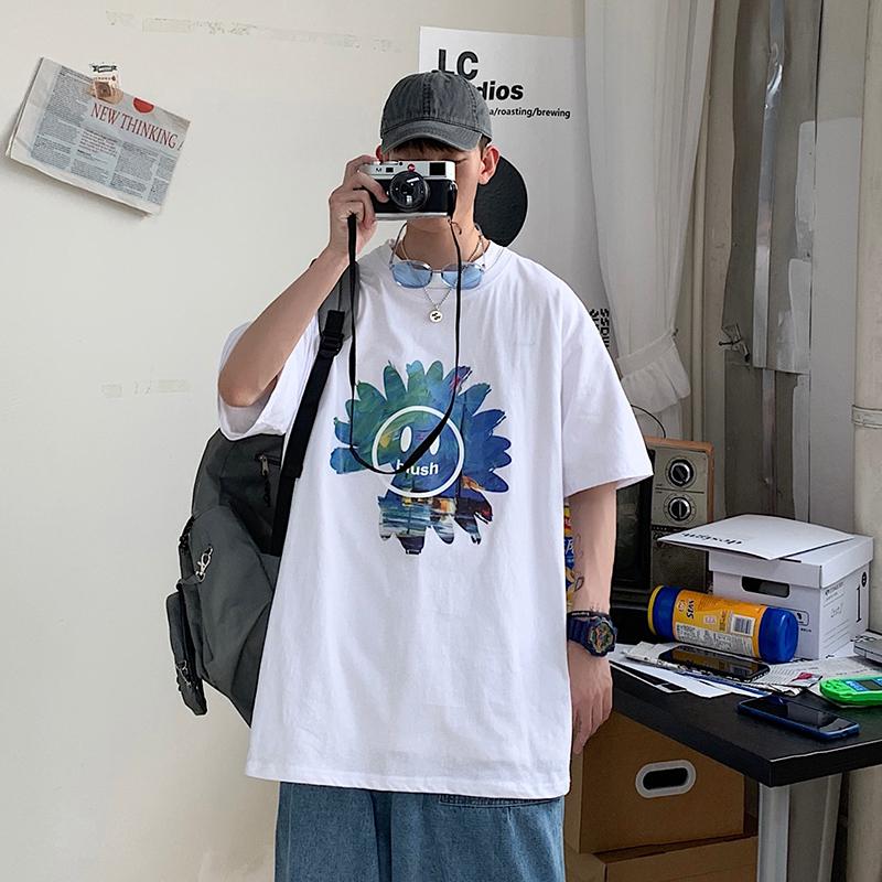 2021港风日系中性情侣短袖大码纯色短袖女生小码T恤小码T631P20