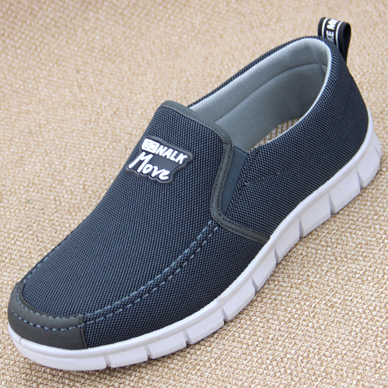 Mens old Beijing cloth shoes mens casual shoes dad middle aged canvas deodorant breathable old mens work shoes