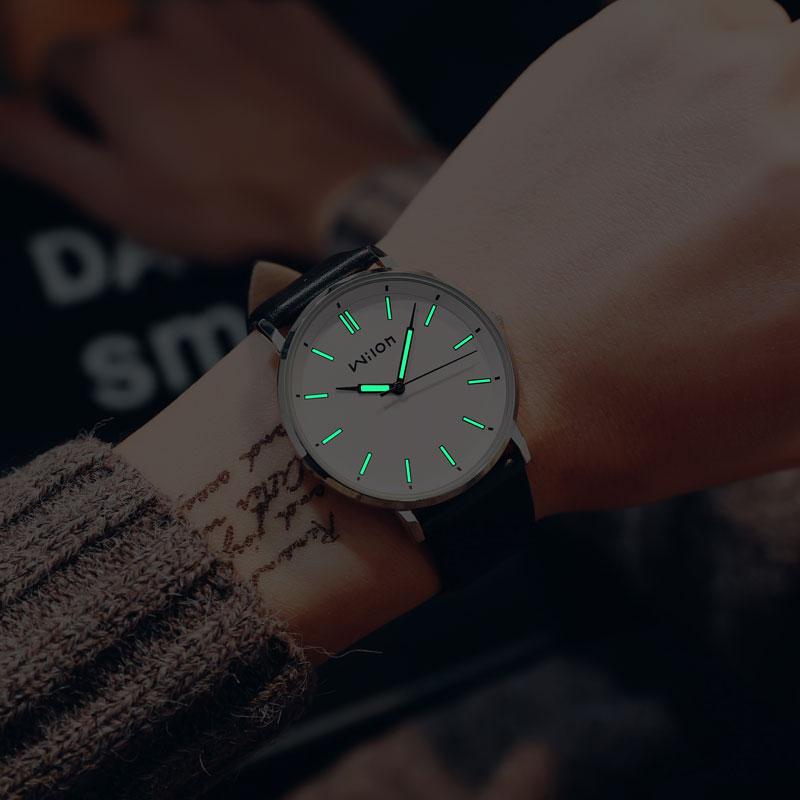 大表盘手表男潮流超薄皮带夜光手表男学生韩版时尚简约防水石英表