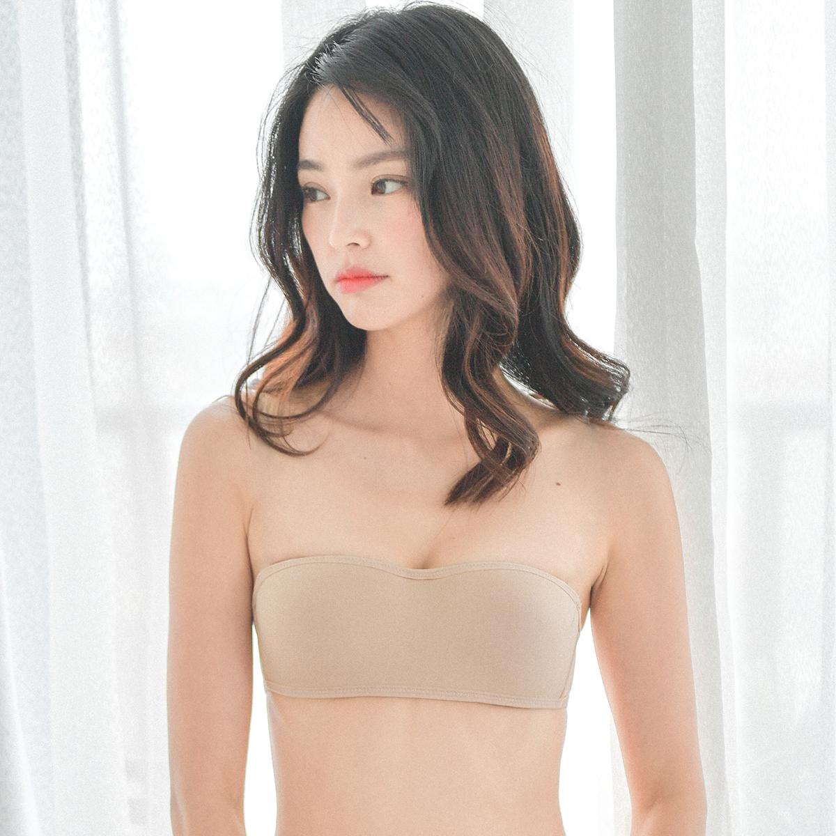 无肩带隐形文胸罩性感无痕内衣女无钢圈薄款婚纱聚拢防滑抹胸夏季