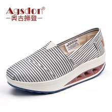 2019 New Women's Shoes Korean Version Baitie Summer Canvas Shoes Women Breathing Old Beijing Cloth Shoes Small Dirty Orange Harbor Wind