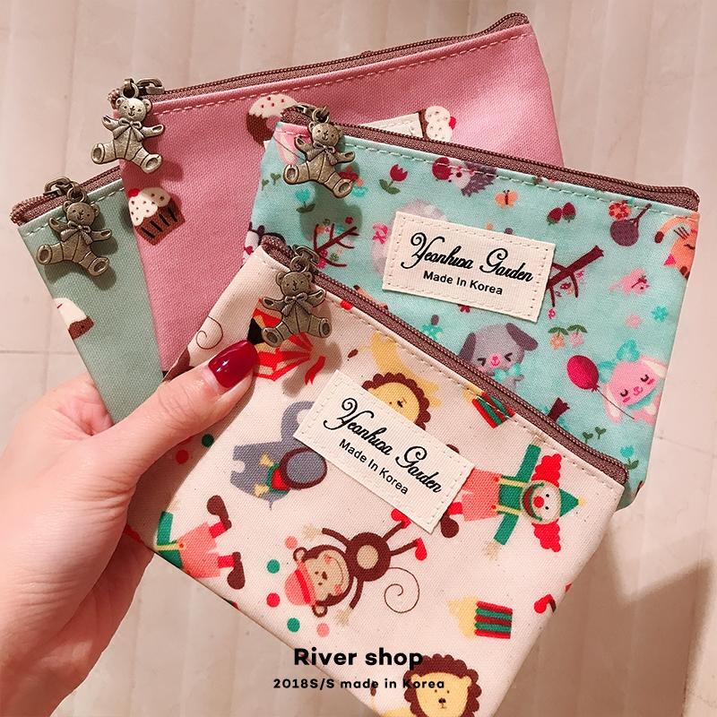 零钱包River shop韩国进口东大门防水卡通可爱小包迷你卡包