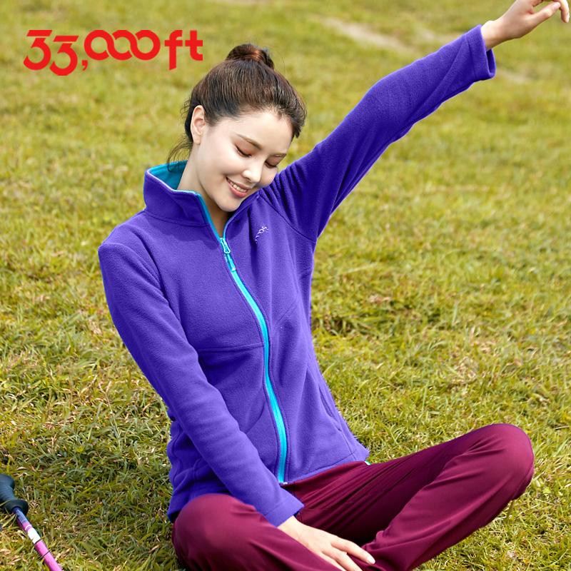 33000ft ловли шерстяных женщин демисезонный зима удерживающий тепло кардиган руно куртка Наружная облицовка оболочки