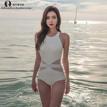 游泳衣女性感连体三角小胸聚拢修身遮肚温泉大码韩国ins网红泳装