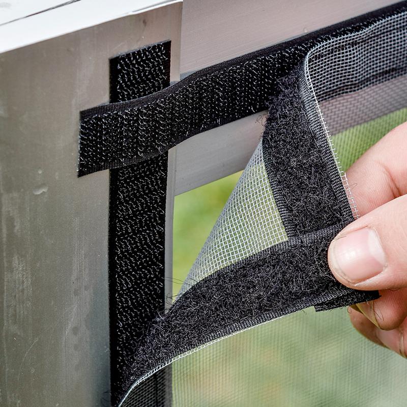 防蚊虫纱窗纱网自装粘贴型非简易磁性门帘魔术贴家用沙窗帘免打孔