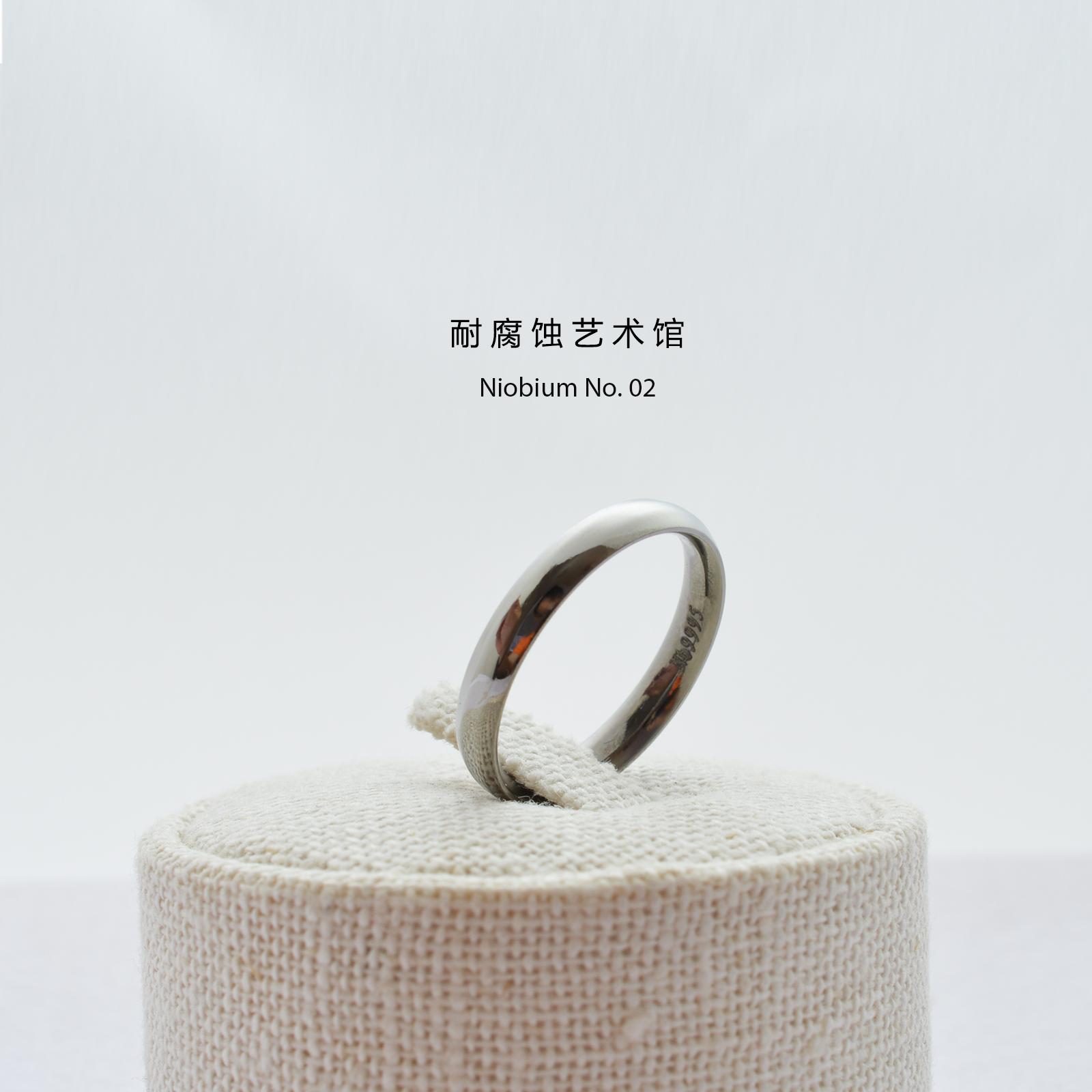 耐腐蚀艺术馆多尺寸长期佩戴设计戒指Nb纯铌戒指DawnThe