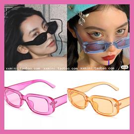 复古小方框厚树脂质感长方形玳瑁框墨镜太阳眼镜 男女适用