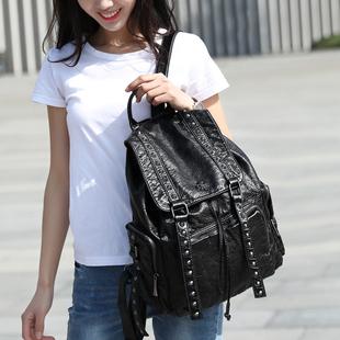 大容量女韩版2020新款水洗双肩包