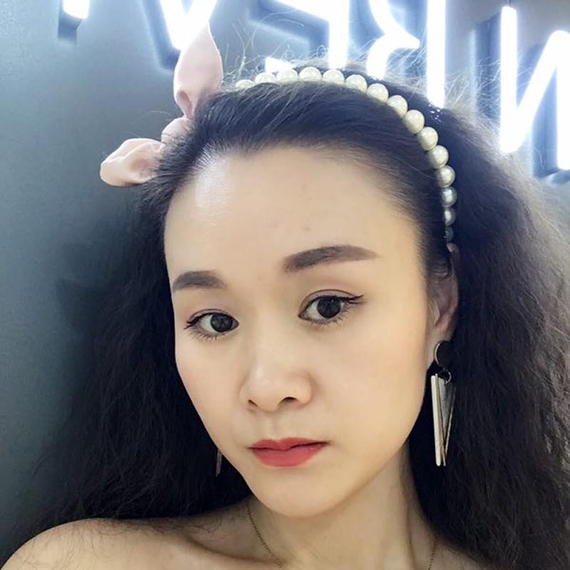 リボンのカチューシャ女韓国シンプルパールの布芸頭のカチューシャの垢抜けた活発で甘いヘアアクセサリー