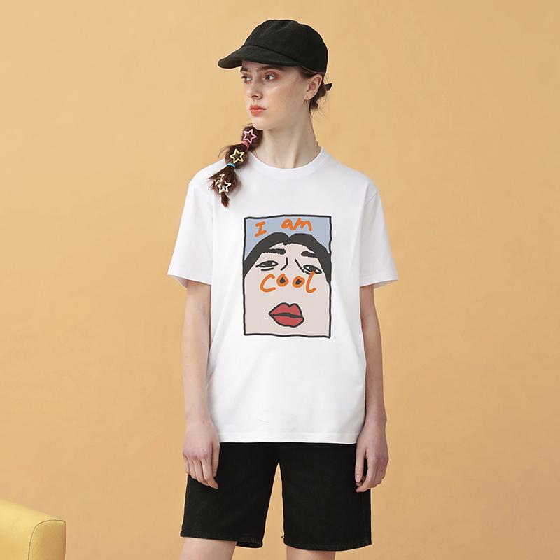 热销36件假一赔十prodbldg im cool宽松短袖白色t恤