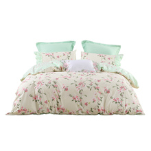 Mercury Home Textile Cotton Four-piece Cotton Bed Sheet 1.8m Bed Cover Single Double Bed Material Summer Morning