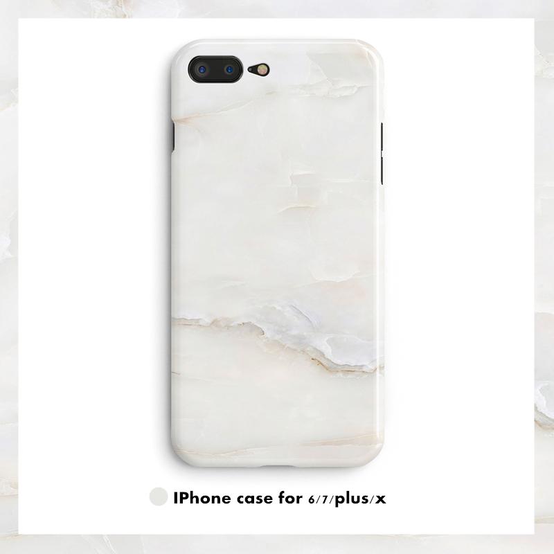 经典款苹果8/6splus大理石纹X硅胶冷淡风iphone7plus光面手机壳软