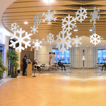 Novak Snow Board stereo Christmas Snowflake Shop Decoration window beauty Chen Michen shop Layout Pendant