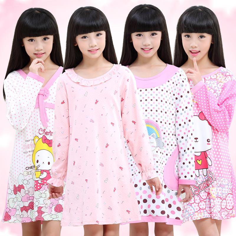 兒童純棉公主中大童連衣裙