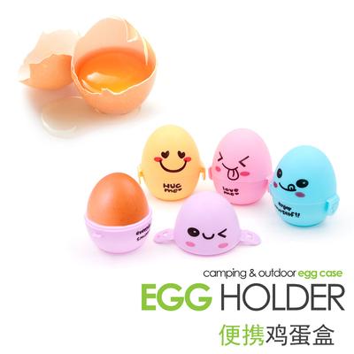 New color egg box, plastic portable egg box, outdoor camping egg set, exported to South Korea 1 egg box