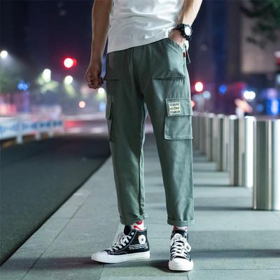 K978/P50秋裝新款充足寬松休閑褲潮流時尚工裝褲男士寬松大碼褲子