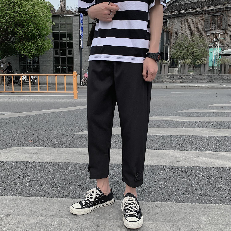 K903/P40夏季哈伦裤休闲裤男九分裤男士大码小脚运动韩版潮男裤子