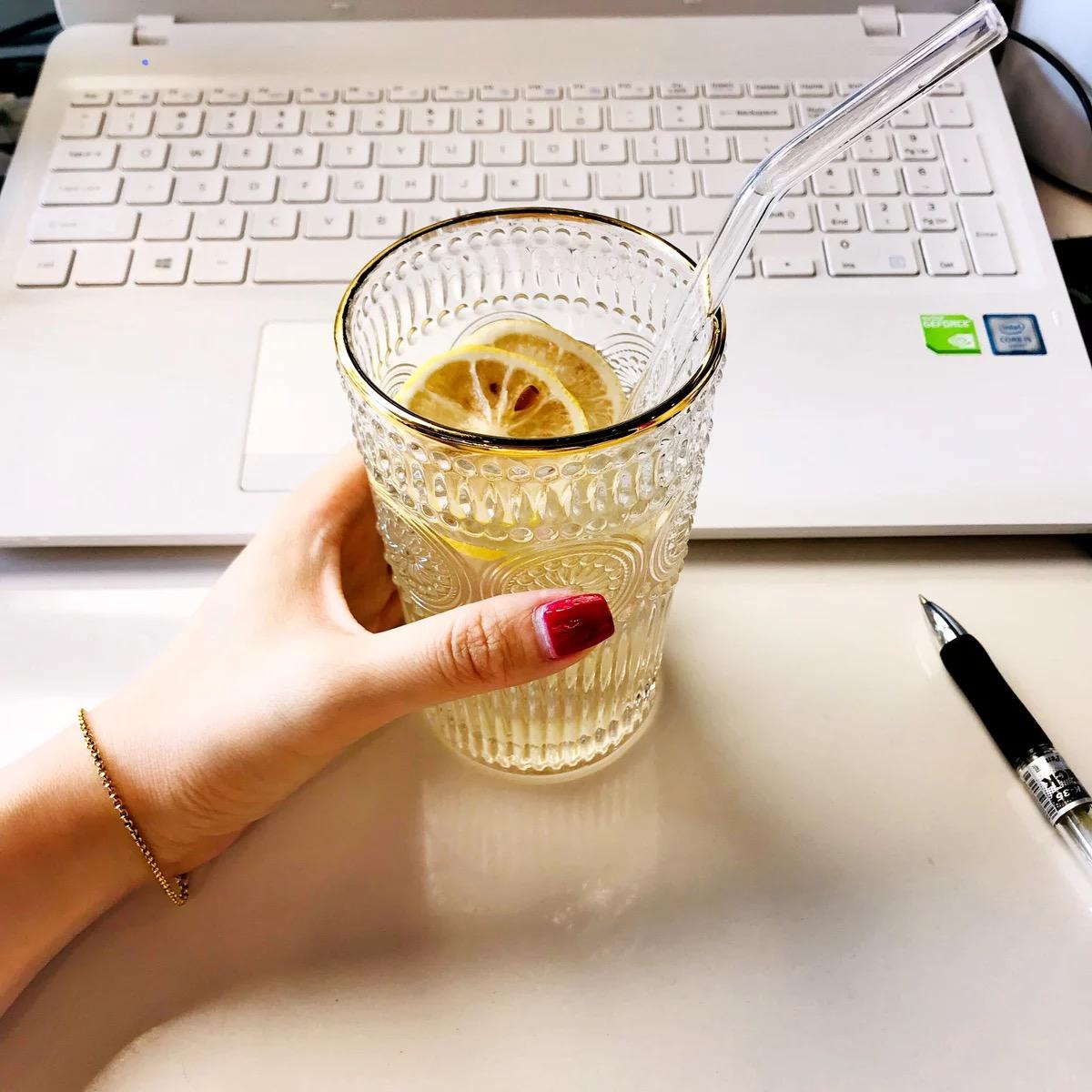 复古浮雕金边玻璃杯圆形太阳花水杯高档餐厅冷饮杯奶茶店果汁杯
