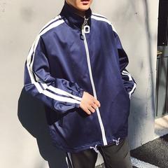 2018春装新款纯色宽松版男士立领夹克外套 M707-P88(控价105)