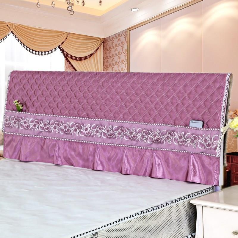 韩版床头罩床头套一米五防尘罩公主风简约现代1.5/1.8m床。(用8.11元券)