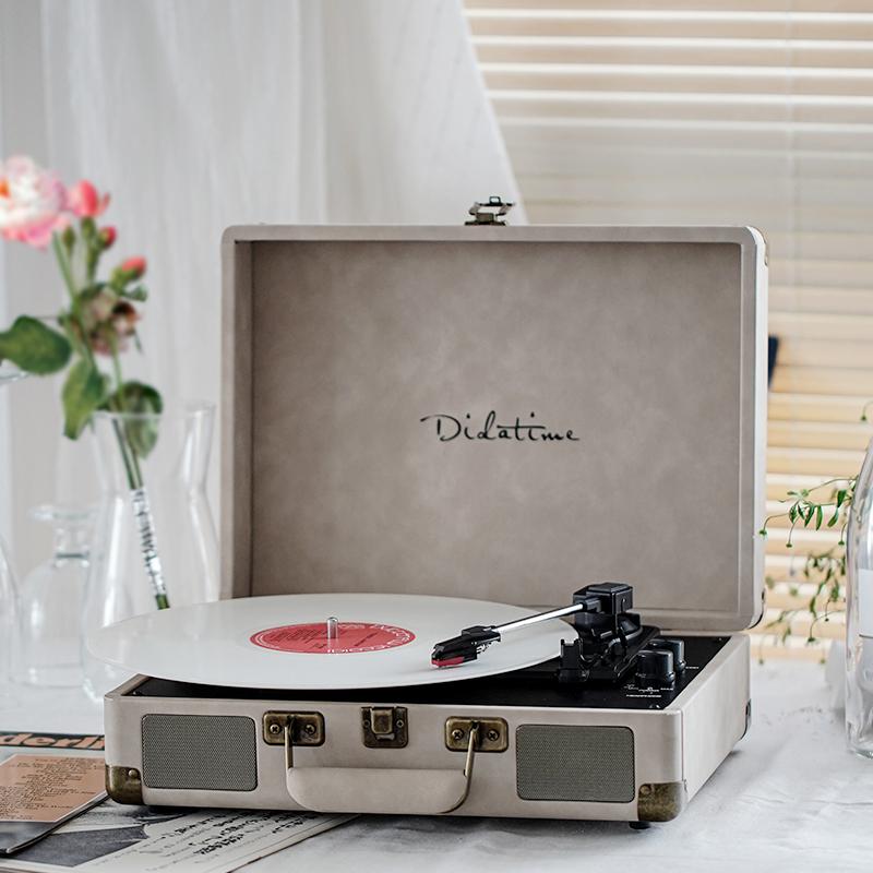 流淌时光黑胶唱片机仿古留声机客厅欧式现代唱盘机黑胶唱机电唱机 Изображение 1