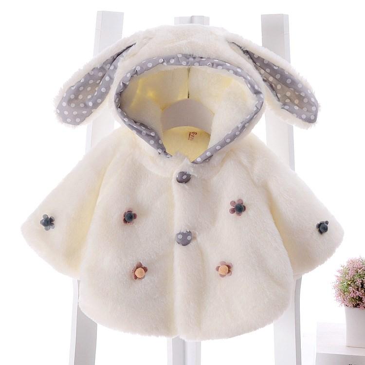 女童毛毛衣外套冬装新生儿加绒加厚宝宝童装韩版0-1-2岁婴儿衣服