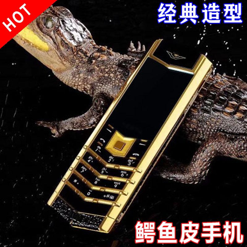 新しいファッションの男性ビジネスのタブレット携帯のクロコダイルの皮K 7ダブルカードの個性的なミニボタンは知能の予備ではありません。