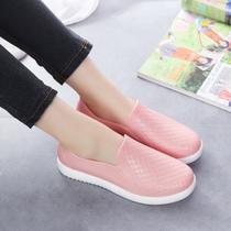 欧美男女低帮雨鞋时尚豆豆鞋透气舒适水鞋耐磨胶鞋厨房防水劳保鞋