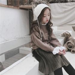 女童假两件洋气卫衣裙2020秋冬新款中大童女孩加绒连衣裙公主裙子