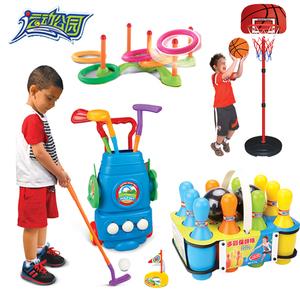 儿童高尔夫球杆套装玩具篮球保龄球户外亲子运动 幼儿园球类玩具