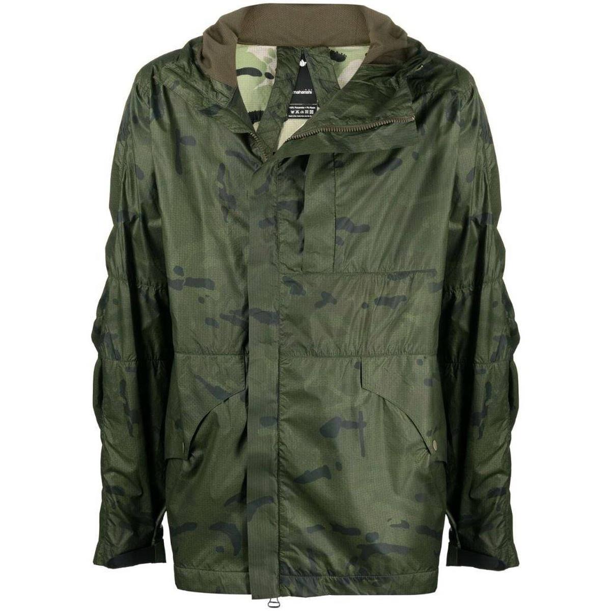 代购Maharishi 迷彩印花轻薄夹克短外套女士2021新款奢侈品