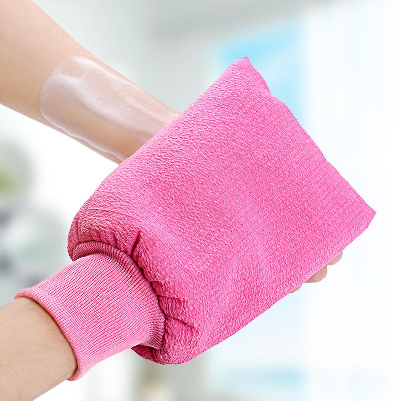韩国加厚双面免搓洗澡巾搓澡巾 强力搓泥去角质搓背巾沐浴手套