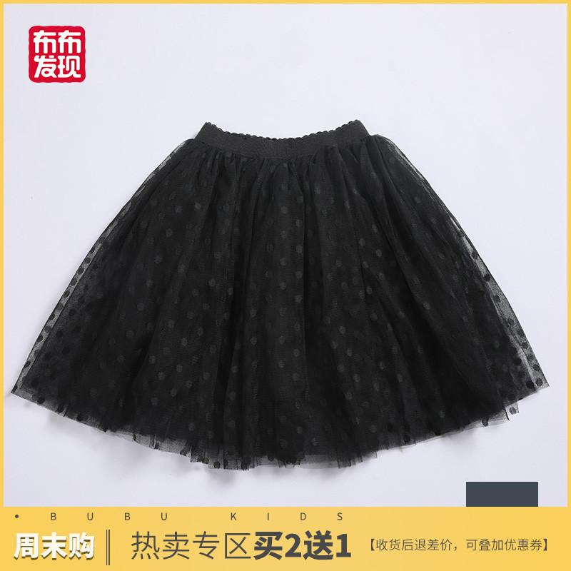 布布发现童装女童半身裙公主蕾丝波点裙儿童纱网蓬蓬裙子2019新款