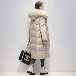 羽绒服女中长款2020年新款冬季韩版休闲毛领宽松加厚秒杀全国包邮