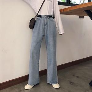实拍实价 控价43 秋季新款宽松直筒百搭牛仔裤女