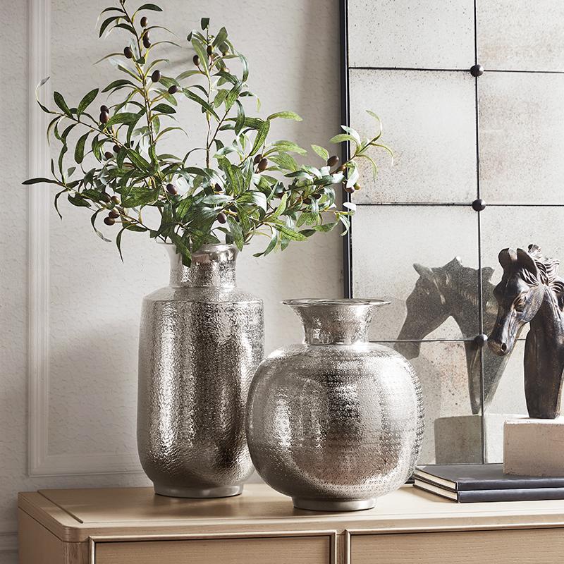 HarborHouse美式家居时尚花瓶摆件插花装饰工艺简约金属花瓶Fluor