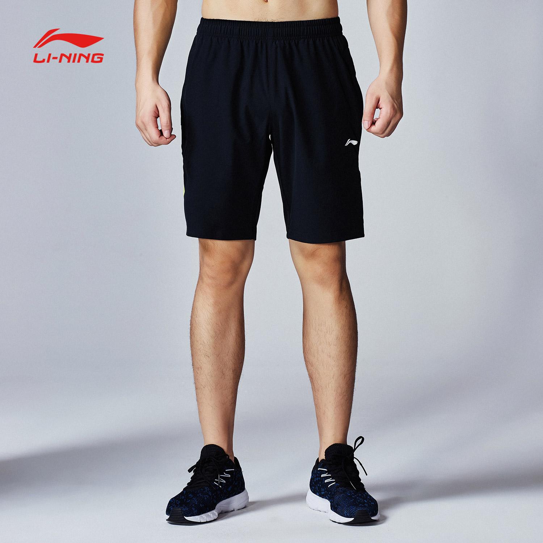 李宁运动短裤男士新款跑步速干休闲运动五分裤夏季薄款健身运动裤