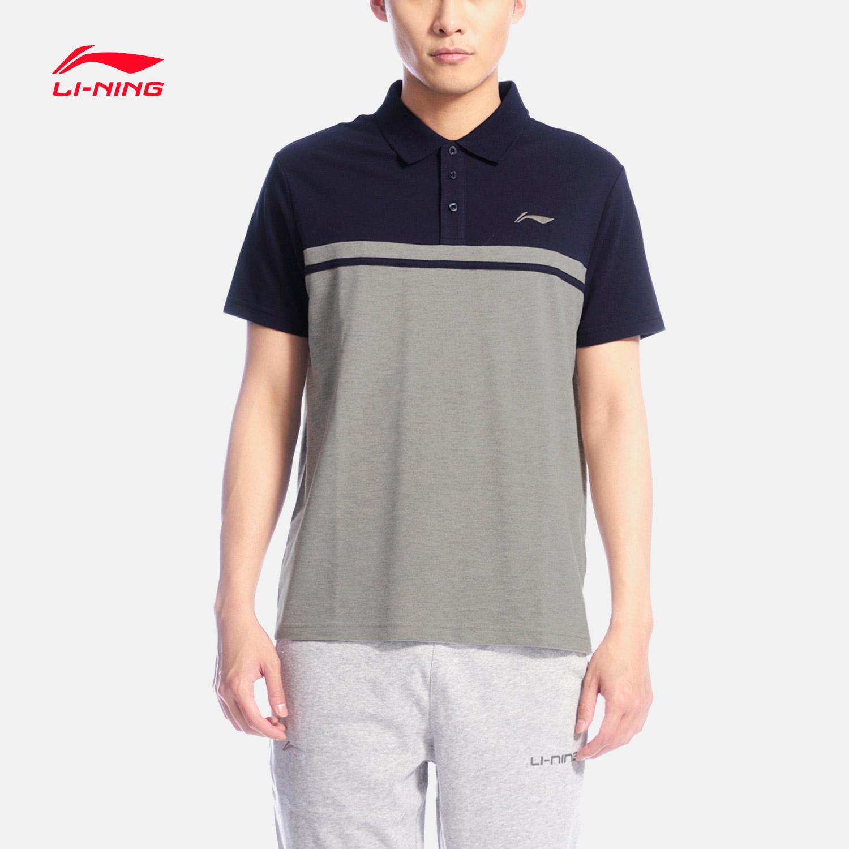 Li ning короткий рукав POLO рубашка мужской движение жизнь серия отворот вязание движение одежда APLL133