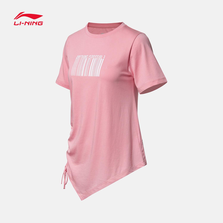 李宁短袖T恤女士2018新款运动时尚系列女装上衣夏季运动服AHSN426