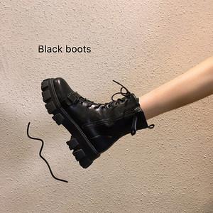 靴子女2020年秋季新款英伦风马丁靴厚底单靴ins潮瘦瘦网红短靴秋