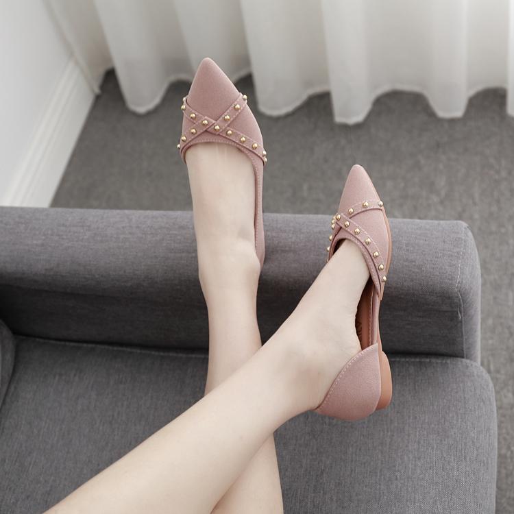 平底女单鞋2019春款女生流行鞋百搭尖头网红晚晚仙女温柔四季女鞋