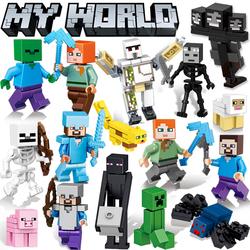 乐高我的世界小人仔史蒂夫骷髅铁傀儡益智儿童拼装玩具6-10男孩子