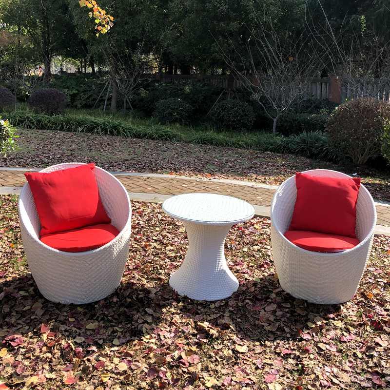 包邮送坐垫鸟巢组合三件套 户外花园藤编休闲家具 咖啡厅阳台桌椅
