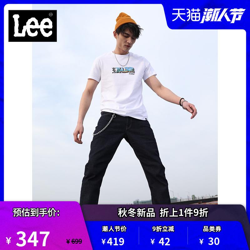 Lee商场同款中腰直筒牛仔裤男 2020潮L127263HN898