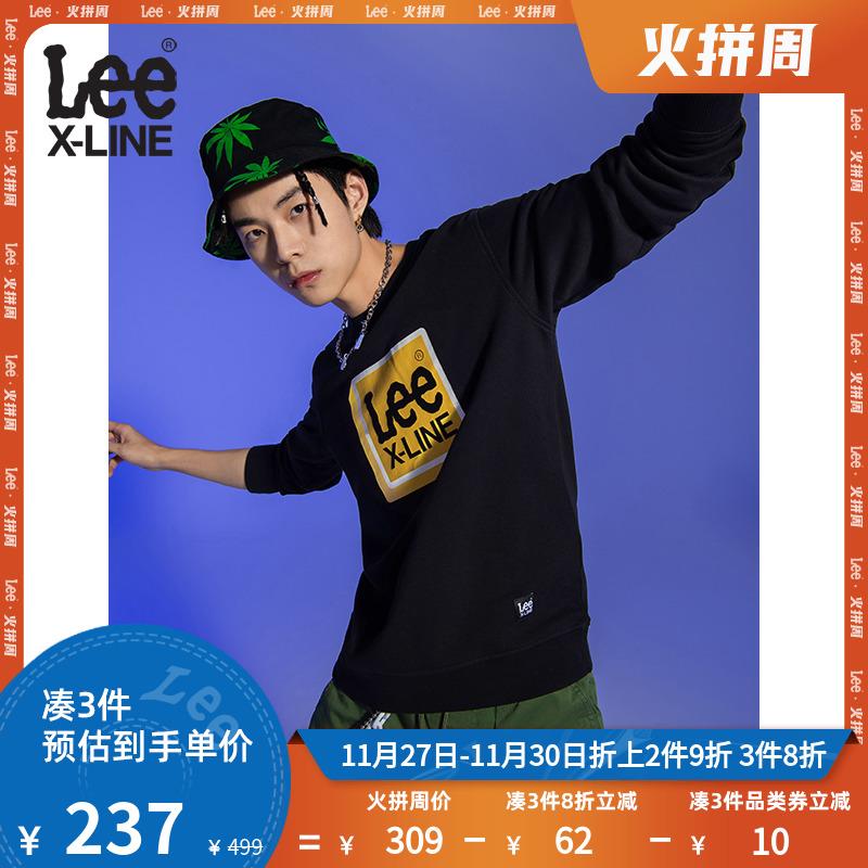 LeeXLINE 20秋冬新品多色圆领卫衣男上衣潮L432244XH