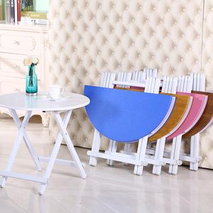 桌子折叠餐桌家用吃饭桌摆摊桌户外折叠桌便携圆桌阳台简易小桌子