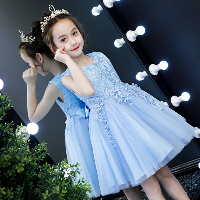女童夏装2019新款蓬蓬纱连衣裙夏季小女孩裙子儿童装超洋气公主裙